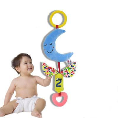 Kids Soft Plush Hanging  Infant Baby Bell Toys Rattles Stroller Bed Toy SU