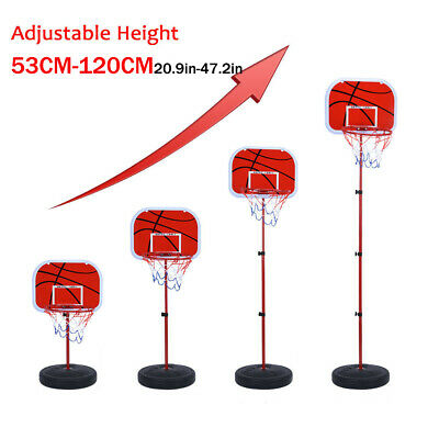 Adjustable & Portable Free Standing Basketball Hoop Net Kids Backboard Stand Set