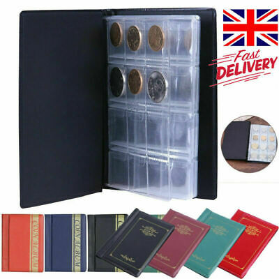 120 Collection Storage Penny Pockets Money Album Book Collecting Coin Holder UK