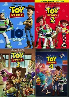 Disney's TOY STORY 1-4 (DVD Bundle) New Complete Collection >>Free Shipping>>>
