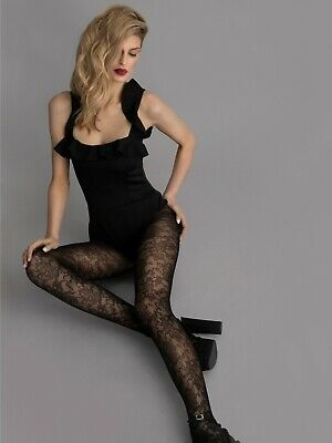 FiORE Lily-Rose Lace Patterned Fine Net Tights 30 Denier