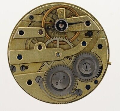 Swiss Cylinder With Silver Dial Pocket Watch Movement W273