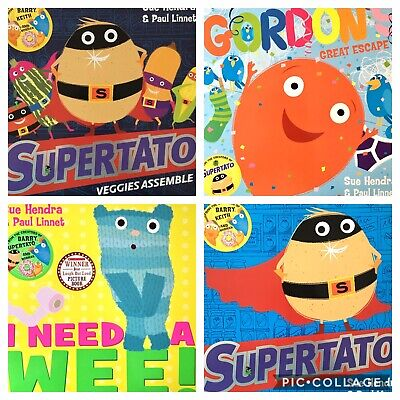 BEST GIFTS FOR BOYS Supertato and other stories (4 books) by Sue Hendra