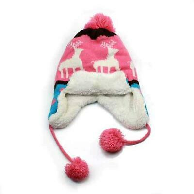 Baby Kids girls boys beanie caps With Elk Ear protection Knitted Hat 6mon-4years