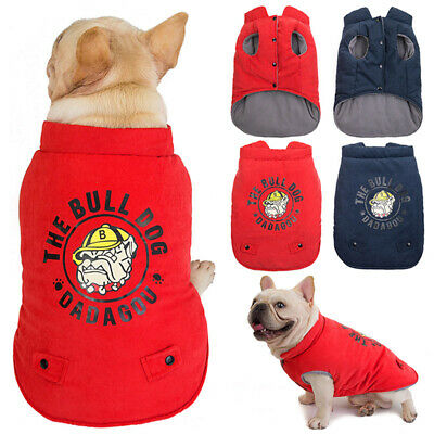 Pet Dog Fleece Warm Padded Vest Jackets Winter Coats For Small Medium Large Dogs