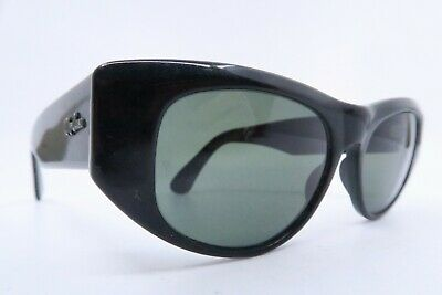 Vintage B&L Ray Ban Dekko sunglasses black acetate etched lens made in the USA