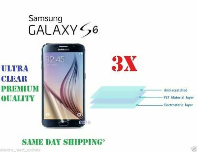 For Samsung Galaxy S6 Screen Protector Film Clear Guard Tempered Glass 3 Packs