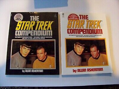 3 Star Trek Books.  The Star Trek Compendium 1989 and 1993, World of Star Trek