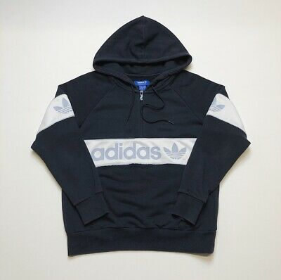 Womens Adidas Spell Out 1/4 Zip Hoodie Size 6