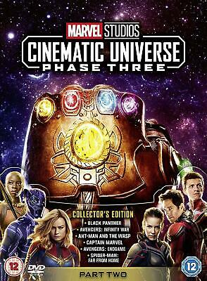MARVEL STUDIOS CINEMATIC UNIVERSE Phase 3 Part 2 BOX 6 DVD in Inglese NEW .cp