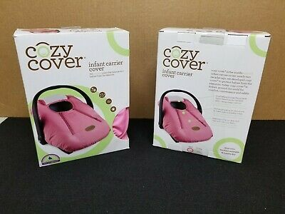 Cozy Cover Infant Carrier Cover - Secure Baby Car Seat Cover - Pink