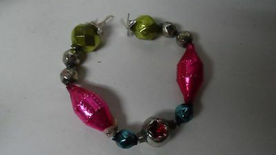 Wonderful Piece Old Glass Bead Christmas Garland - Geometric & Faceted