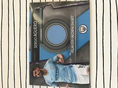 Match Attax Ultimate 2018/19 Sergio Aguero Rare Player-Worn Shirt Mint