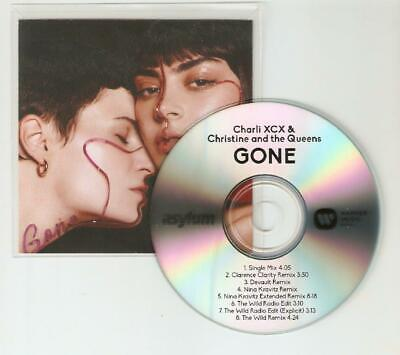 """Charli Xcx & Christine And The Queens """"Gone"""" New 8 Remix Rare Cd Promo"""