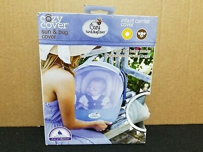 Cozy Cover - Summer Sun & Bug Cover - Infant Carrier Cover - Mesh - Blue