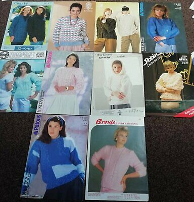 "R99 WOMANS PATCHWORK ARAN LONG /& SHORT JUMPERS UPTO 45/"" VINTAGE KNITTING PATTERN"