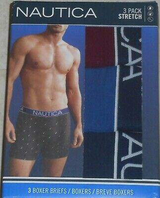 NAUTICA Classic Cotton Stretch Boxer Briefs 3 pack - Medium