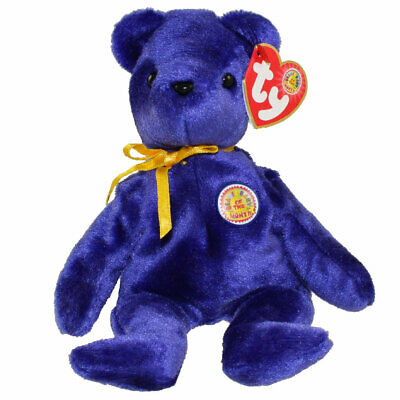 - MWMTs Stuffed Toy TY Beanie Baby SAPPHIRE the Bear BBOM May 2004 8 inch