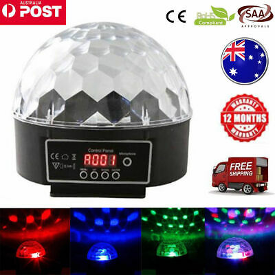 Disco Party DJ LED RGB Stage Car Light Lamp Laser Crystal Magic Ball AU