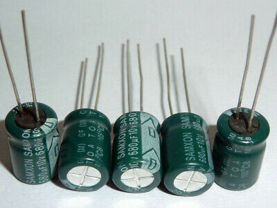 30pcs 8 x 12mm Cylindrical Radial Lead Electrolytic Capacitor 105C 680uF 10V