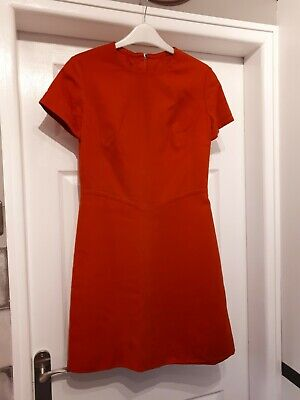 1960s Dress And Matching Coat orange/red colour