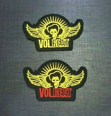 VOLBEAT ROCK MUSIC HEAVY METAL BAND WOVEN POP Embroidered Patch Iron On Sew Logo
