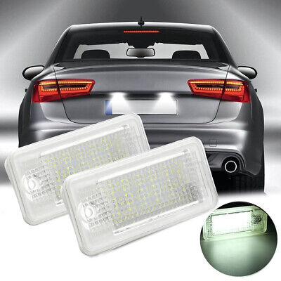 2x LED License Number Plate Light No Error For Audi A3 8P RS3 A4 S4 A6 S6 A8 Q7