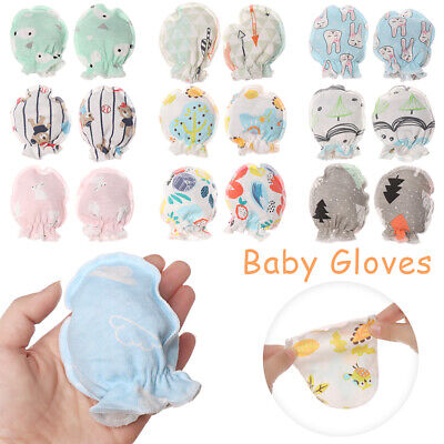 Soft Cotton Protection Face Full Glove Mittens Baby Gloves Anti Scratching