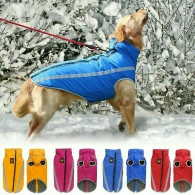USA Winter Dog Clothes Small Large Big Dogs Waterproof Pet Coats Vest Jacket