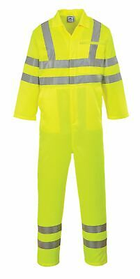 Portwest Hi-Vis Polycotton Coverall Overall Boilersuit High Visibility Workwear