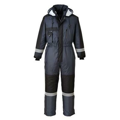 Portwest Winter Waterproof Coverall Overall Pack Away Hood Workwear Outdoors