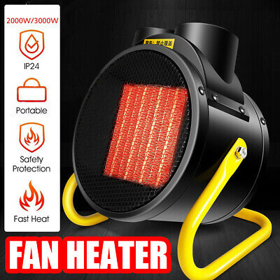 2000W/3000W Portable Electric Space Air Heater Fan Warmer Home Shop Industrial