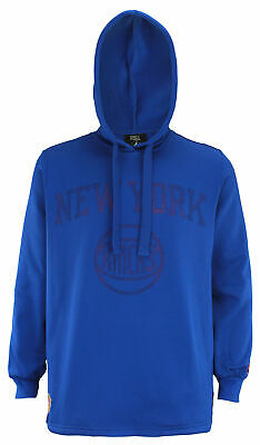 FISLL NBA Men's New York Knicks Perforated Pullover Hoodie, Royal Blue