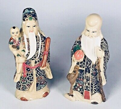 Chinese Statues X2 / Figures / Sculptures, Pre Owned In Good Condition.