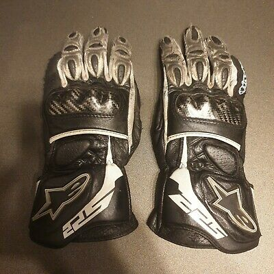 ALPINESTARS SP2 Leather Motorcycle Gloves Carbon Knuckles - Medium