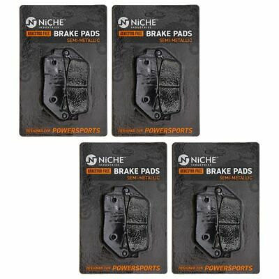 NICHE Brake Pad Set Honda Shadow Ace 750 Triumph Front Rear Semi-Metallic 4 Pack