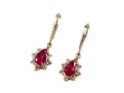Gold Pink Tourmaline Earrings 1½ct Antique 19thC Gem of China Last Empress 14kt