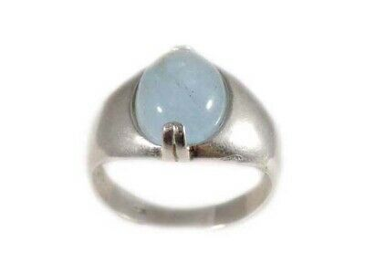 Ancient Greek Ocean Mariner Talisman Aquamarine Ring 18thC Antique Gemstone