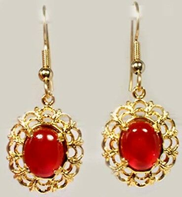 Carnelian Gold Earrings 4¼ct Antique 18thC Ancient Egypt Shamanic Astral Trips