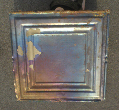 SALE!! Antique Iridescent Ceiling Tin Tile Simple and Elegant Framed Canvas Chic