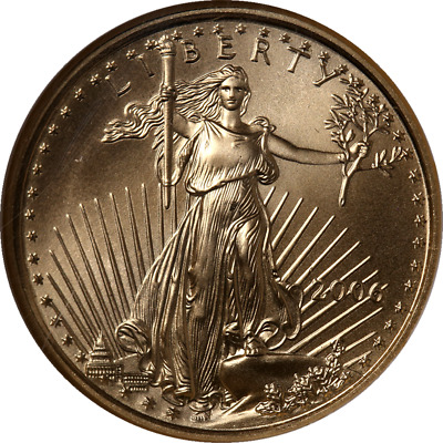 2006 Gold American Eagle $10 NGC MS70 Brown Label
