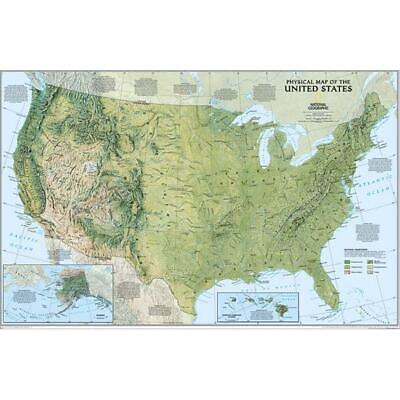 National Geographic RE00620040 United States Physical Map