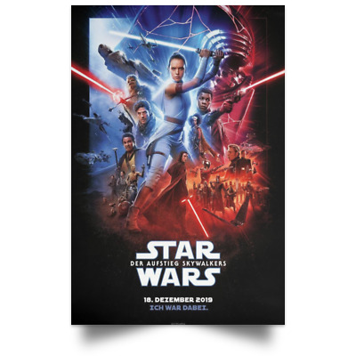 Star Wars The Rise of Skywalker Germany Ver New Movie Poster Sizes 16x24 24x36