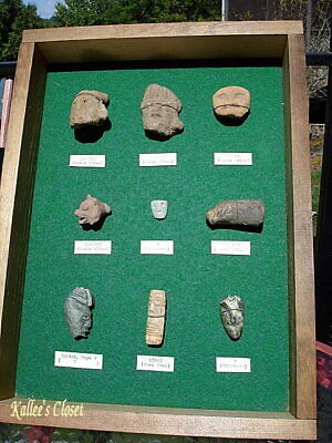 Lot of (9) Pre-Columbian Zapotec Ancient Civilization carved stone artifacts
