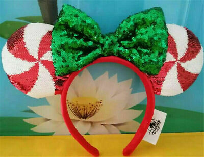New Disney Parks Mickey Minnie Mouse Lollipop Candy Cane Cutie Ears Headband