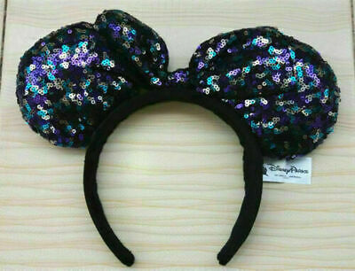 New Disney Parks Minnie Mouse Sequined Ears Headband So Cute Bow