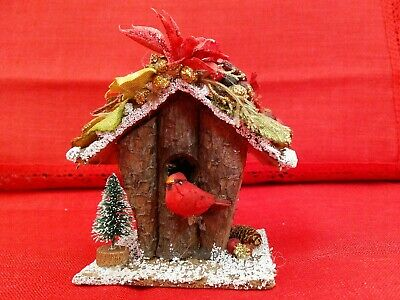 Lot of 5 Rustic Country Christmas Tree Ornaments, Decor Excellent condition