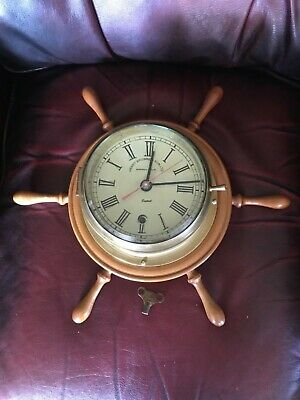 Henry Browne & Son Sestrel Brass Ships clock Full service Just Undertaken