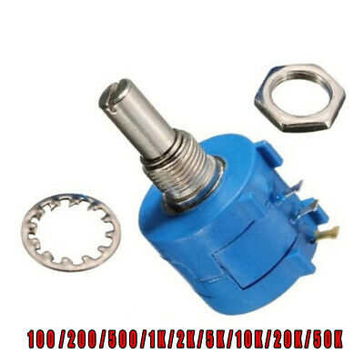 3590S Rotary Wirewound Precision Potentiometer Pot 10 Turn Ohm Variable Resistor