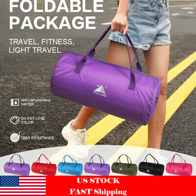 Waterpoof Portable Foldable Travel Luggage Storage Gym Bag Carry-On Duffle Bag